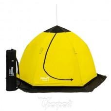 Палатка зим зонт Helios NORD-2 желт/черн, 220х150 (оксф.210D/PU1000), дюралюм.8мм