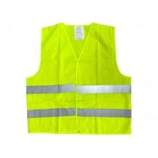 Жилет светоотражающий для водителей на липучках, цв.лимонный, сетка