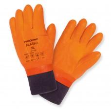 Перчатки Petrokanat рыб професс Alaska оранж с манжет -30С ПВХ/латекс/х/б , 300мм  р.XL
