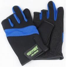Перчатки HITFISH Glove-03 неопрен/полиэстер/ПВХ 3открыт.пал черн/син, р.L