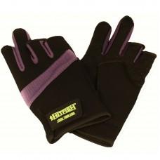 Перчатки HITFISH Glove-03 неопрен/полиэстер/ПВХ 3открыт.пал черн/фиол, р.L