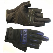 Перчатки HITFISH Glove-04 неопрен/полиуретан 3открыт.пал черн/син, р.L