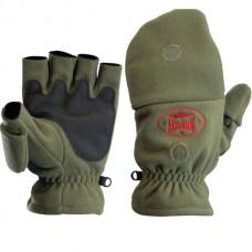 Перчатки варежки Alaskan COLVILLE флисWindStopper/неопрен на липуч, хаки  р. M