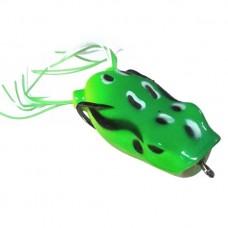 Лягушка VKG Frog поппер с двойником 53х23мм, 12.3г, цв.салат-желт