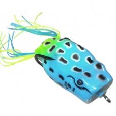Лягушка VKG Frog поппер с двойником 53х27мм, 12.8г, цв.голуб-желт