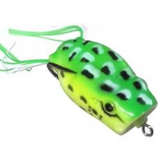 Лягушка VKG Frog поппер с двойником 53х27мм, 12.8г, цв.салат-желт