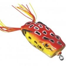 Лягушка VKG Frog поппер с двойником 53х27мм, 12.8г, цв.красн-желт