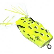 Лягушка VKG Frog поппер с двойником 53х27мм, 12.8г, цв.желт
