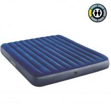 Матрац надувн флок INTEX 183х203х25см Blue, 3-х местный (без насоса)  (2)