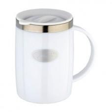 Термокружка Biostal FLER пласт.корп с крышк цв 500мл бел