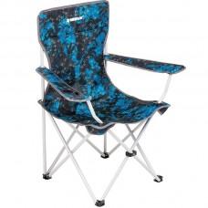 Кресло складн NISUS Shark 52/85х50х44/90 сталь до100кг, син/черн с подстаканником