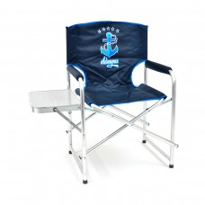 Кресло складн Кедр Адмирал AKAS-02  56х57х47/83 алюм22х1.2, до110кг со столиком ХДФ