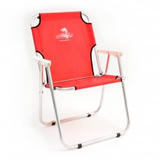Кресло шезлонг складн Кедр AKS-08  40х59х40/82 алюм, до110кг красный
