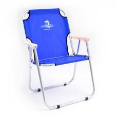 Кресло шезлонг складн Кедр AKS-08  40х59х40/82 алюм, до110кг синий