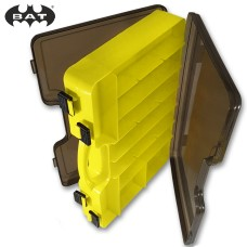 Коробка BAT 290х200х60 2сторон с ручкой сер/желт