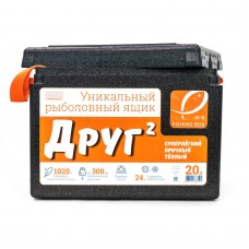 Ящик зим пенопласт Camping World ДРУГ-2  20л, 1.02кг черн/оранж