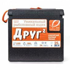 Ящик зим пенопласт Camping World ДРУГ-2  25л, 1.15кг черн/оранж
