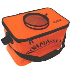 Кан сумка ПВХ Namazu 40см на молнии оранж N-BOX23  40х24х24см, с окном