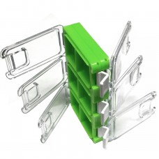Коробка 110х65х22 2сторон 6отд, зеленая