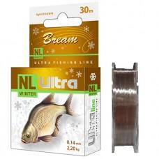 Леска Aqua NL Ultra Bream лещ  30м 0,14  2,20кг св-кор (8)