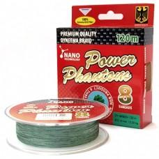 Нить Power Phantom 8-threads 120м green 0,10  9,15кг