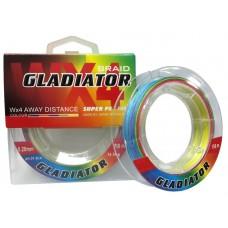 Нить Gladiator Wх4  100м multicolor 0,12  8кг