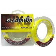 Нить Gladiator Wх4  100м желт 0,12  8кг