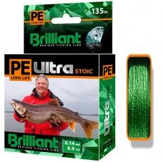 Нить Aqua PE Ultra Brilliant Stoic невыцветающий 135м green 0,14  (6)