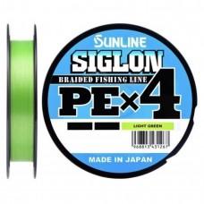 Нить Sunline SIGLON PEx4 150м light green 0.108 (6lb) 2.9кг