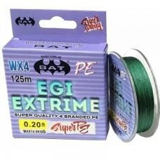 Нить BAT EGI Extrime WX4 PE 125м green 0.10  6.1кг