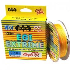 Нить BAT EGI Extrime WX4 PE 125м multicolor 0.10  6.1г