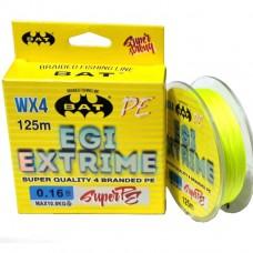 Нить BAT EGI Extrime WX4 PE 125м yellow 0.10  6.1г