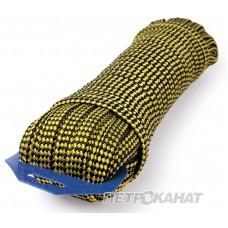 Линь плавающий плоск 10мм 25м (500кг) евромоток, черно-желт