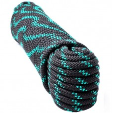 Шнур якорн плетеный 12мм 30м (1800кг) евромоток, черн-зел