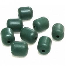 Бусина силикон LZF  d4х5 бочонок, 30шт зелен