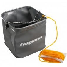 Ведро складн Flagman Eva FSN0002 квадр со съемн.шнуром 8м.  6л  18.5х18.5смх18см