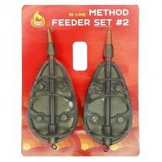 Кормушек набор OGON FISH Method Feeder Set (in line) 40г+40г