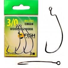 Крючок офсет Fish Season Wide Range Worm бол.ушко № 1/0  4шт  (10)