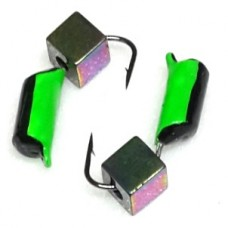 Морм вольфрам Столбик/куб D2.5  7мм черн/зелен. хамелеон 0.6г  (12)