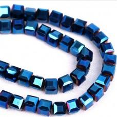 Кубик 4мм 100шт, синий
