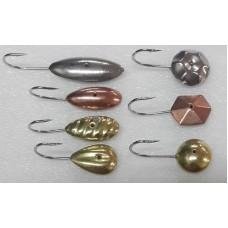 Мормышка РВС тип 1/16  сер,зол,медь 1.1-1.5г  (70)