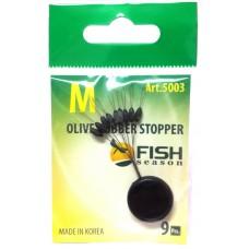 Стопор резин Fish Season олив 5003 M  9шт