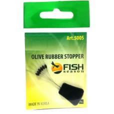 Стопор резин Fish Season олив 5005 L  6шт