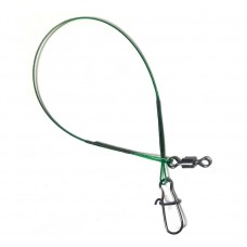 Поводок осн 1х7 Duolock/Rolling  15см/13кг зелен  (100)