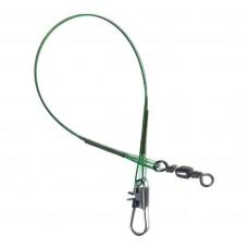 Поводок осн 1х7 Interlock/Barrel  15см/13кг зелен  (100)