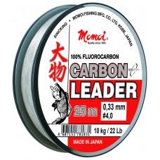 Поводочн материал Momoi Carbon Leader флюорокарбон 25м 0,29   8.5кг