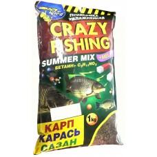 Прикормка CRAZY FISHING с мелассой SUMMER MIX 1кг карп/карась  (7)