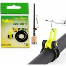 Держатель крючка на бланк удилища Fish Season HOOK KEEPER желт