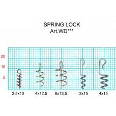 Спираль Fish Season SpringLock д/фиксац на крюч силикон.прим 15x3 (10шт)