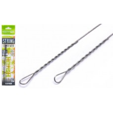 Поводок струна HITFISH String Leader Wire нерж 100мм, d0.28, 7кг  (10)